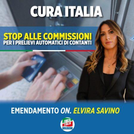E. Savino (Fi): sospendere commissioni bancomat fino a fine emergenza Covid19